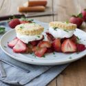 Strawberry Rhubarb Olive Oil Shortcakes
