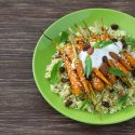 Roasted Carrots and Dukkha Yogurt Sauce