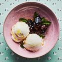 3-Ingredient Seared Dates with Vanilla Ice Cream and Mint