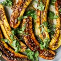Roast Plantains with Cumin-Lime Dressing